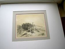 ETS/LITHO d'ART       PECHEURS  SCENE MARINE      18x22cm  P.P. 40x50CM