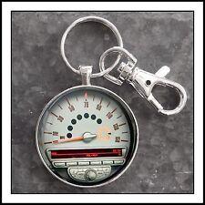 Mini Cooper Tachometer Photo Keychain