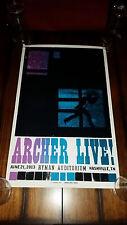 ARCHER Live! HATCH PRINT Ryman Nashville 2013 FX TV Show Poster Bond Agent RARE