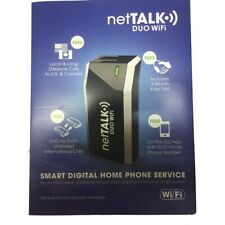 New NetTalk Duo Wifi VoIP Home Phone Device With 3 Month Activation