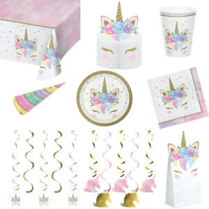 Unicorn Themed - Tableware and Decorations - Kids Party Supplies