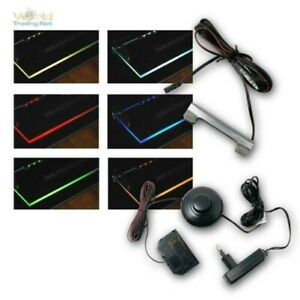 LED Glass Edge Lighting Complete Set M Transformer, Floor Metall-Clips