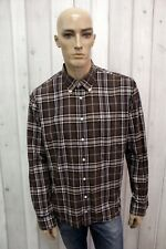 TOMMY HILFIGER Taglia XL Camicia a Quadri Uomo Cotone Shirt Casual Manica Lunga