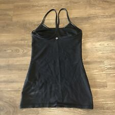 Lululemon Power Y Tank 4 Black Top Shirt Racerback Luon Workout Yoga