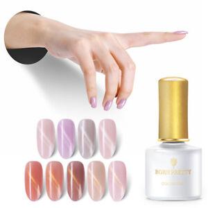 BORN PRETTY Pink  Magnetic Cat Eye UV Gel Polish Nail Art Semi-transparent Decor
