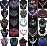 Fashion Crystal Pendant Bib Choker Chain Statement Necklace Earrings Jewelry