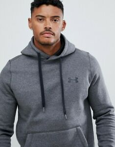 UA Under Armour Rival Pullover Hoodie Mens Grey large BNWT RRP 45