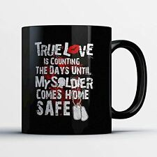 Army Dad Coffee Mug - Until My Soldier Comes Home - Adorable 11 oz Black Ceramic
