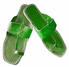 rajasthani chappal kolhapuri slippers hand stitching green slippers womens flats