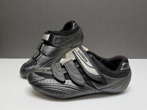 Shimano Men's Size 8.3 SH-R077L Cycling Shoes Black Grey  EU 42 Barley Worn