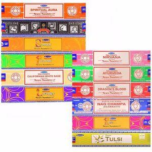 Satya SATYA SAI BABA - NAG CHAMPA VARIETY MIX 12 PACK EACH PACK 15 GRAMS