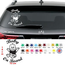 Baby On Board Funny Car Child Sticker, Window Bumper, Vinyl Decal | Free P&P