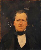 Original Oil Painting 19 century - Civil War Portrait, Man Portrait