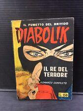 DIABOLIK n.1 RISTAMPA dell' 1 - 8 - 1964 barzelletta in terza di copertina