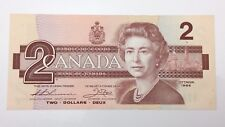 1986 Canada 2 Two Dollar BBA Prefix Canadian Uncirculated Banknote E457