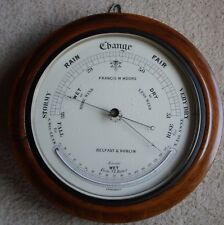 Antique 1800s Wall Barometer & Thermometer by Francis M. Moore of Belfast/Dublin