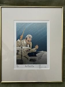 Ronnie Wood Signed Art.  169/600. Portrait Of Charlie Watts