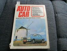 Autocar Magazine - 20th April 1972