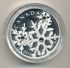 CANADA 2011 $20 FINE SILVER COIN - SMALL CRYSTAL SNOWFLAKE - MONTANA - NO TAX!