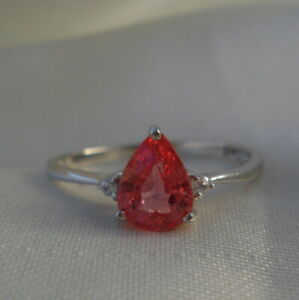 0.89ct Certified Padparadscha Sapphire Ring