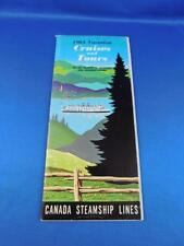 CANADA STEAMSHIP LINES VACATION CRUISES TOURS BROCHURE BOOKLET 1964 BOAT TRAVEL