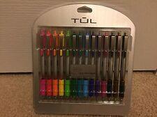 TUL Retractable Gel Pens Brights Medium Point 0.7mm Black Pink New Color 14