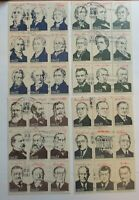 Ameripex 86 Set of 22 Cent Presidential Stamps Presidents of The United States