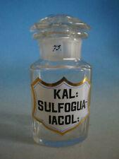RS1119-021: Alte Apotheke Glas Flasche 19 Jhdt. Kal. Sulfogualacol