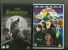 FRANKENWEENIE (2011) & HOTEL TRANSYLVANIA (2012) TWO MONSTER ANIMATED DVDS