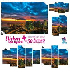 STICKER NEW YORK SKYLINE AUTOCOLLANT ART DECO DECORATION MURAL NY-24