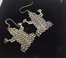 Vintage Sterling Silver Frog Earrings