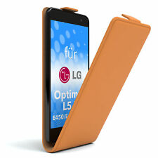 Tasche f. LG Optimus L5 II - E450 / E455 / E460 Flipcase Schutzhülle Etui Orange