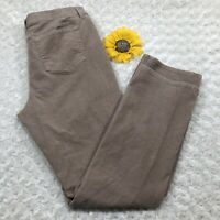 St Johns Bay Womens Straight Leg Corduroy Jeans Pants Size 12 Stretch Tan bs608