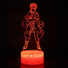 Hokage  Uzumaki Naruto 3D LED Decor Night Light Touch Table Lamp Gift 7color New