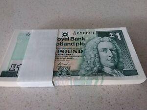 Royal Bank of Scotland 100 X  £1 One Pound note. un circulated, Scottish RARE