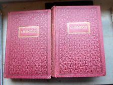 Chamissos Werke (Max Sydow) 2 Bände dekorativer Einband Jugendstil