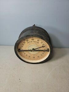 ANTIQUE WESTINGHOUSE ELECTRICAL GAUGE POWER FACTOR 3 PHASE NO 272929 steam punk
