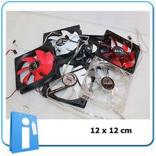 LOTE 6 x Refrigerador Ventilador Case Fan 12x12 cm lot NUEVO