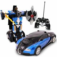 Kids RC Toy Transforming Robot Remote Control Car Inferno For Boys 1:22 Scale