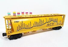 MTH O Gauge Akron Canton & Youngstown 4 BAY CYLINDRICAL MAP HOPPER near scale