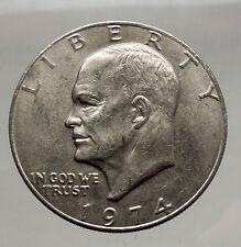 1974 President Eisenhower Apollo 11 Moon Landing Dollar USA Coin i46173