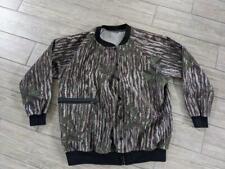 vintage REAL TREE hunting CAMOUFLAGE jacket LARGE