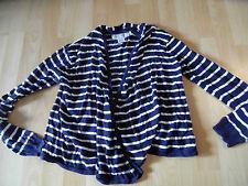 H&M schöne offen zu tragende gestreifte Strickjacke blau weiß Gr. 146 TOP SH616
