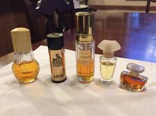 🌹Vintage lot of 5 perfumes: Chantilly,Drizzling Gold,Lanvin,Wild Jazmin,Avon�
