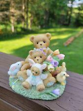 Signed Easter Spring Cherished Teddies Theodore Samantha & Tyler 4009176