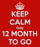 Picture of Keep calm only 12 MONTH TO GO