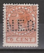 NVPH Nederland Netherlands nr 178 used PERFIN H.E.O. Wilhelmina 1926 Pays Bas
