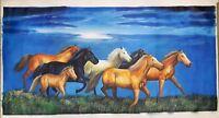 Seven Horse Running Painting Handmade Original Oil Painting On Canvas Vastu Art