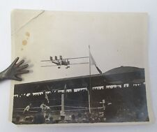 WWI Photograph of 1919 INTER-ALLIED GAMES Boxing at Pershing Stadium w/ Bi-Plane