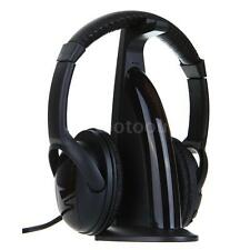 5-in-1 HiFi Wireless Headphone Earphone FM Radio Monitor MP3 PC TV Audio A6F7